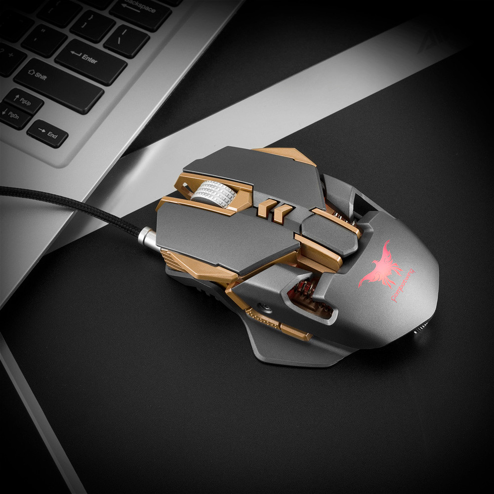 DZT1968 Combaterwing CW30 Adjustable 3200DPI Wired Gaming Mouse Mice For Computer