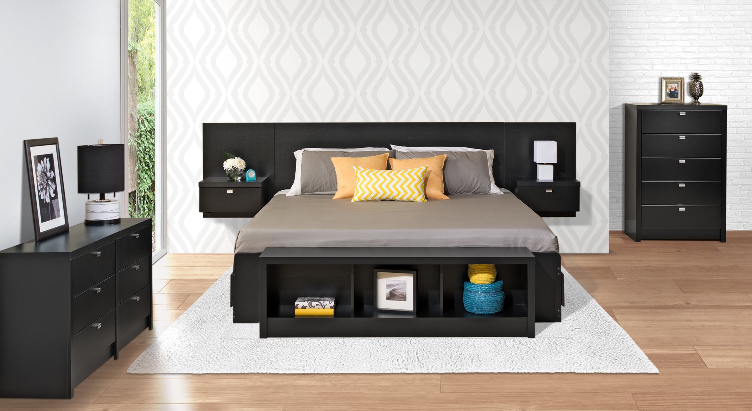 platform and nightstands ideas of bed floating king xfile popular attached side with u headboard shocking style tables
