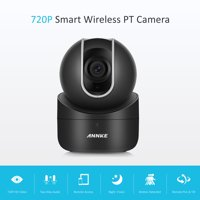 ANNKE 720p Wireless Wi-Fi IP Camera 1.0Megapixel PT Camera/Baby Monitor with 2-Way Audio and Remote Pan/Tilt (White)