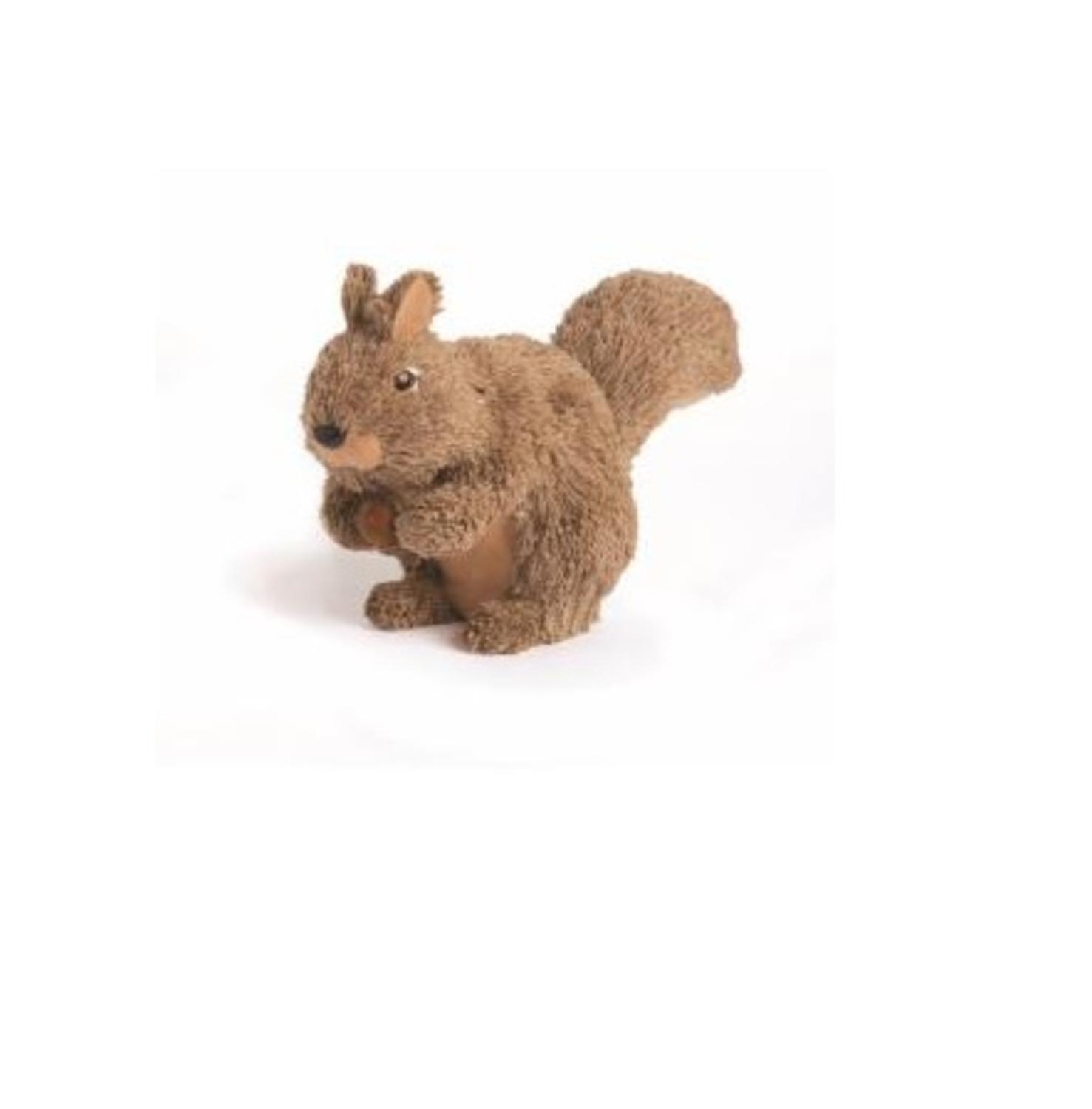 """11.5"""" Country Cabin Jute and Sisal Squirrel with Acorn Christmas Table Top Decoration"""