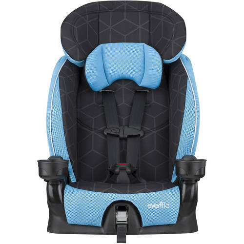 Evenflo Advanced Chase LX Harness Booster Car Seat, Berry Dot