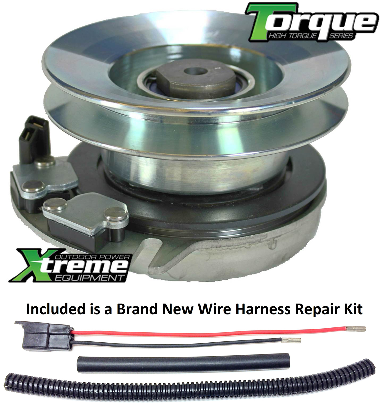 bundle 2 items pto electric blade clutch, wire harness repair kit replaces cub cadet lt1042 electric pto blade clutch w wire harness repair kit diesel wire harness pto wire harness #14