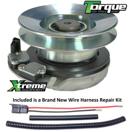 Bundle - 2 items: PTO Electric Blade Clutch, Wire Harness Repair Kit   Replaces CUB CADET LT1042 Electric PTO Blade Clutch - w/ Wire Harness  Repair Kit