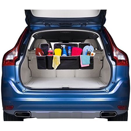 2 in 1 Backseat Car Trunk Organizer by Kodiak| 4 Pocket Car Storage Solution| Vehicle Storage for Childrens Toys/ Tools/ Baby Supplies & Golf Trunk Organizer| SUV & Car Organizer| Life-time Warranty (Baby Car Toy Vehicle)
