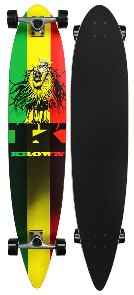 """Krown City Surf Longboard Rasta 9"""" x 46"""" by Krown"""
