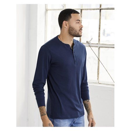 T-Shirts - Long Sleeve Long Sleeve Jersey Henley Antimicrobial Long Sleeve Jersey