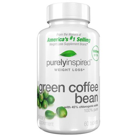 Purely Inspired Green Coffee Bean Dietary Supplement for Weight Loss, 60 count