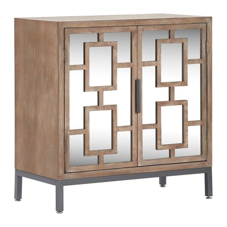 - Tommy Hilfiger Hayworth Short Mirrored Accent Cabinet Ash Gray