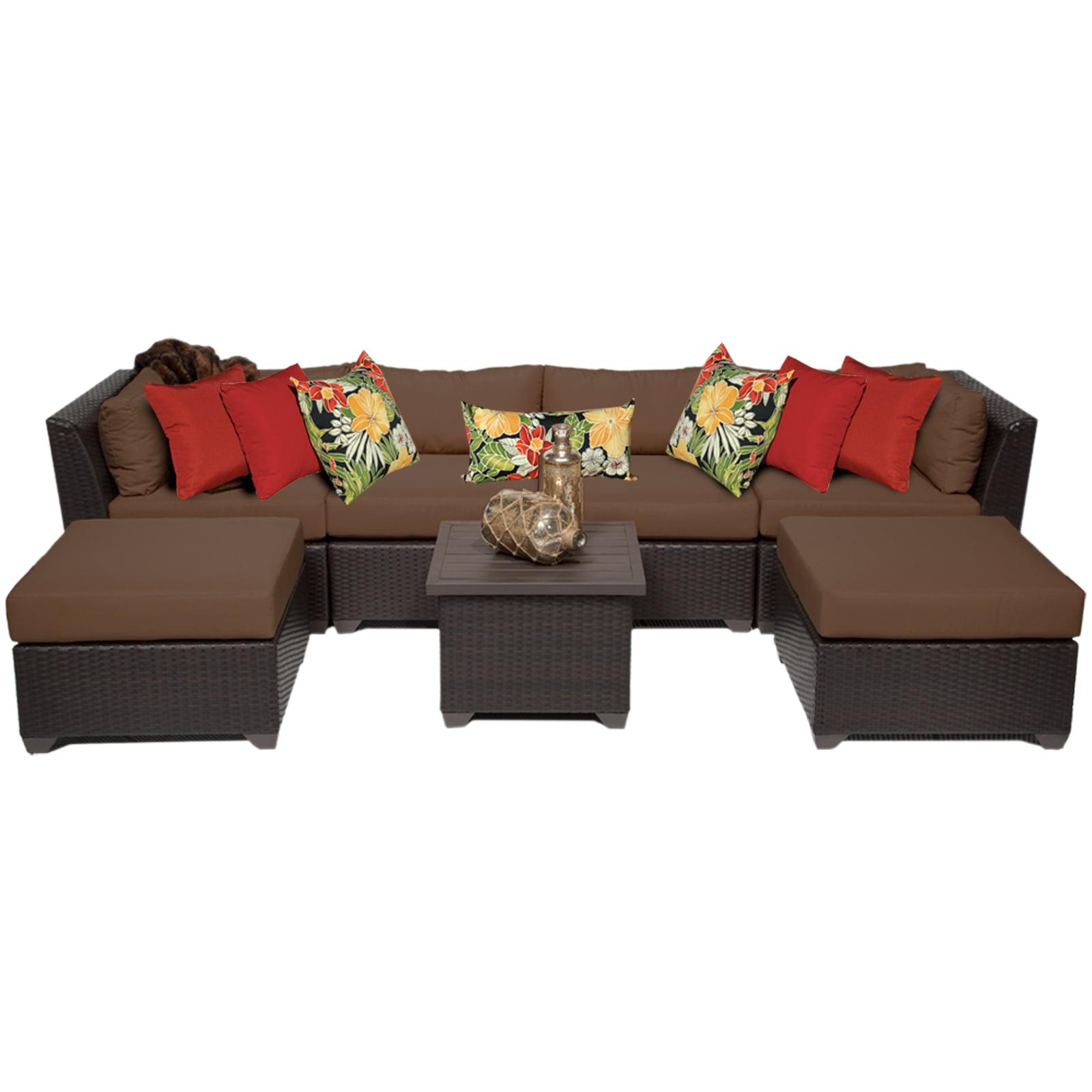 Bermuda 7 Piece Outdoor Wicker Patio Furniture Set 07a by TK Classics