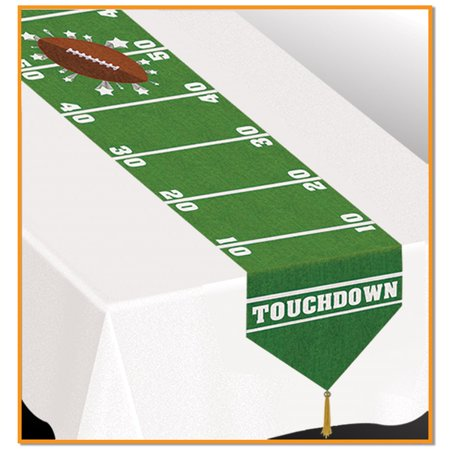 Football Bouquet (Club Pack of 12 Printed Game Day Football Disposable Banquet Party Table Runners 6')