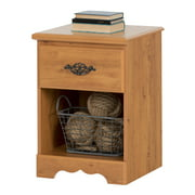 South Shore Prairie Nightstand, Country Pine