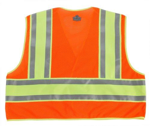Ergodyne GLoWear 8245PSV Public Safety Vest, Orange, 2X-Large/3X-Large