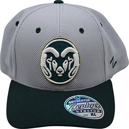 NCAA Zephyr Colorado State Rams Fitted Hat XL Cap Gray Colorado State Rams Helmet