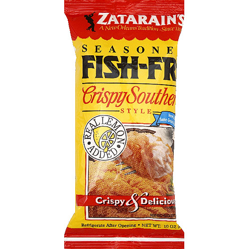 Zatarain's Crispy Southern Style Seasoned Fish Fri Seafood Breading Mix, 10 oz, (Pack of 12)