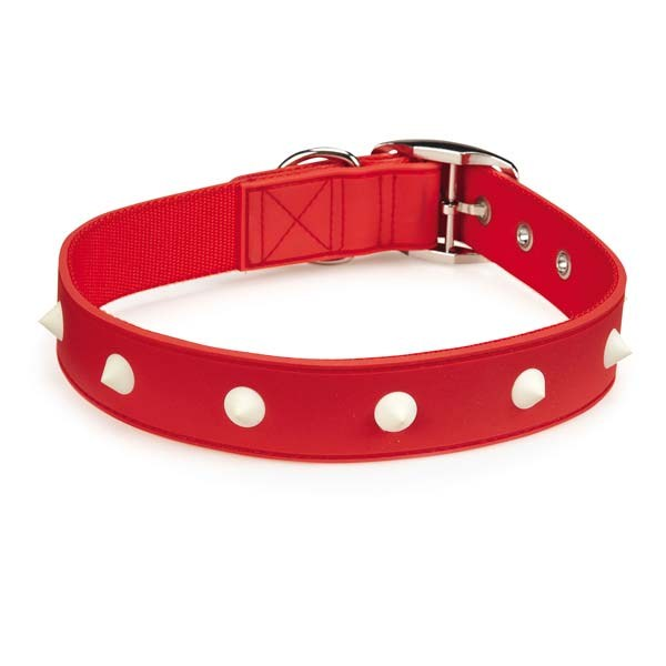 Zack & Zoey Glow Stud Collar 11-14in Red