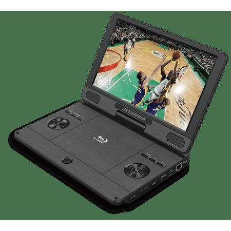 sylvania 11 4 portable blu ray media player swivel. Black Bedroom Furniture Sets. Home Design Ideas