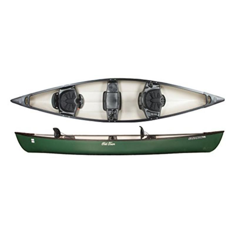 Old Town Canoes & Kayaks Saranac 146 Recreational Family Canoe, Green by