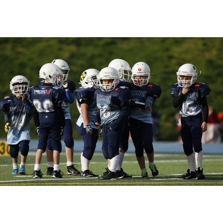 Canvas Print American Football Football Team Youth League Game Stretched Canvas 10 x 14
