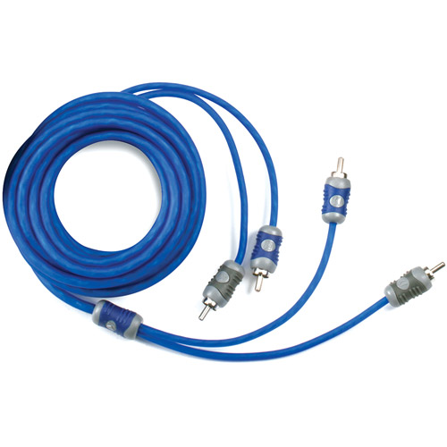 Kicker K-Series 2-Channel RCA Interconnect Cable, 1m, Blue