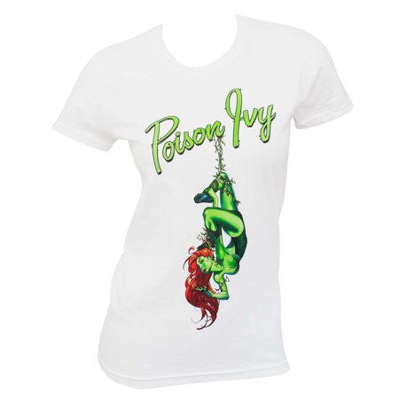 Batman Villains Poison Ivy Women's White Tee Shirt](Poison Ivy And Batman)