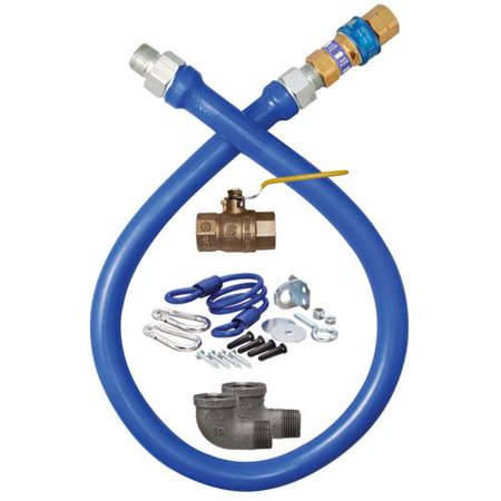 Dormont - 16100KIT48 - 1 in x 48 in Deluxe Gas Hose Kit Dormont Steam Connector Hose