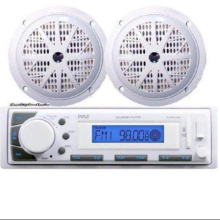 Marine Stereo AM/FM Radio Receiver USB/SD iPod/MP3 Player + 2 x 100W 5.25