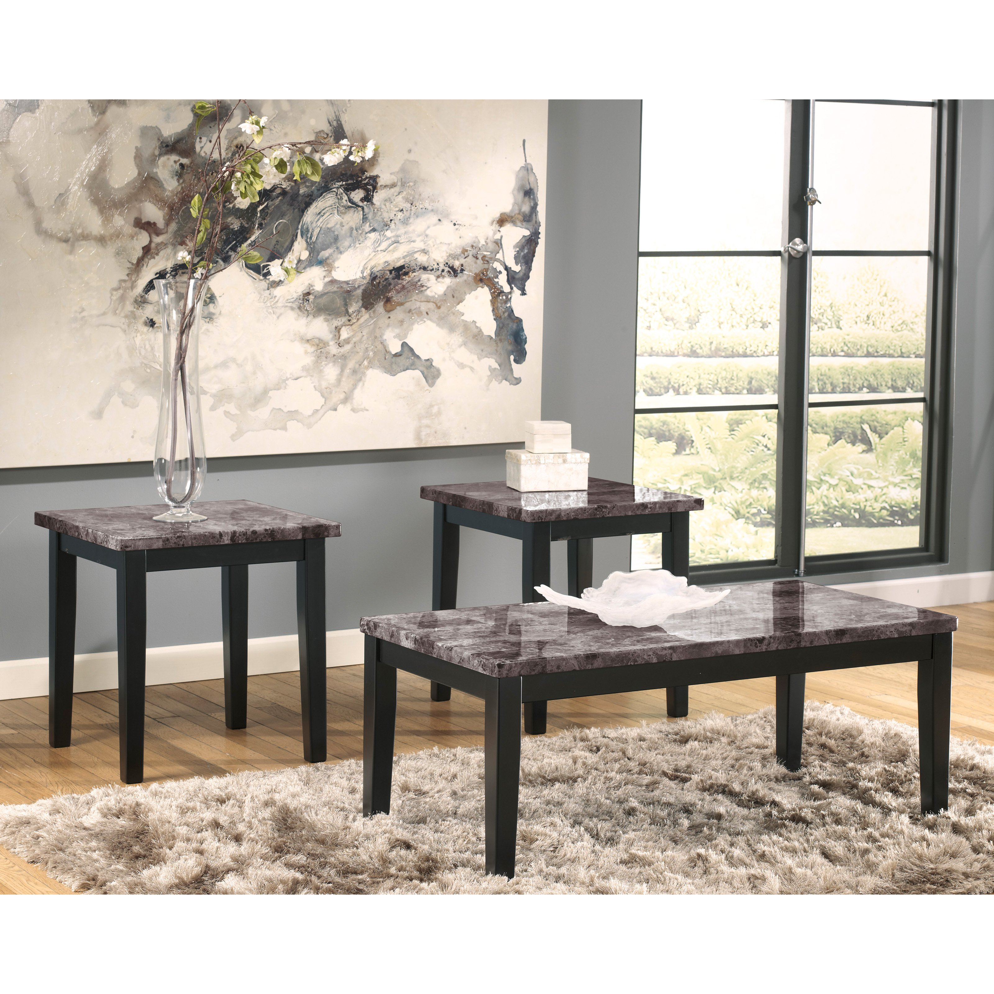 Signature Design By Ashley Maysville Black Occasional Table - Set of 3