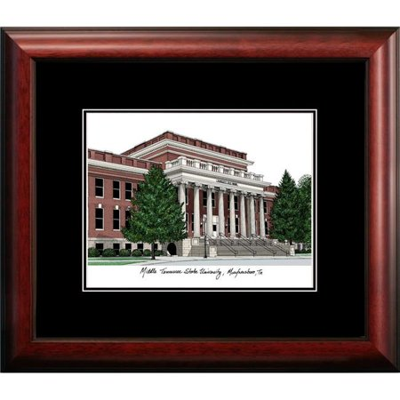 Middle Tennessee State University Framed - Campus Images TN999A 14 x 18 in. Middle Tennessee State University Academic Satin Mahogany Framed Lithograph
