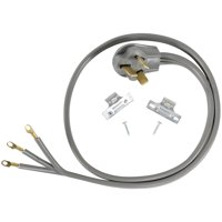 Certified Appliance Accessories 90-1080 3-Wire Closed-Eyelet 50-Amp Range Cord, 4Ft