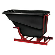 Rubbermaid Commercial Self-Dumping Hopper, 1 2 Cubic Yard, 750 lb Capacity, Black Red by RUBBERMAID COMMERCIAL PROD.
