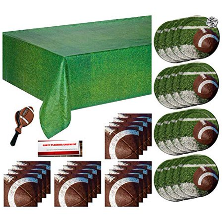 Football Game Day Party Supplies Pack Bundle for 16 Plus Football Clapper Toy