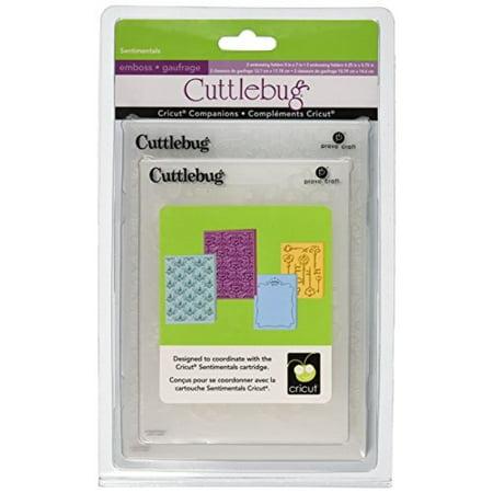 Cuttlebug Provo Craft Cricut Companion Embossing Folder Bundle, Sentimental Cuttlebug Embossing Folder