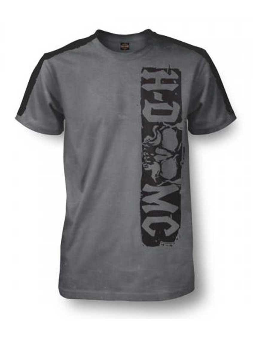 f7b86570 Harley-Davidson Men's Skid Premium Short Sleeve T-Shirt, Cold Black Washed, Harley  Davidson