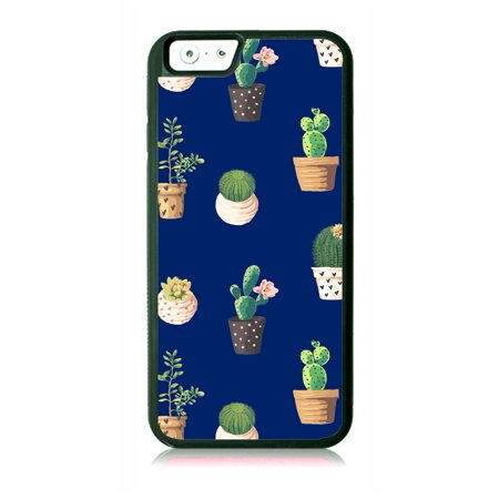 Cute Cactus Plants Pattern Print Design Black Rubber Case for the Apple iPhone 6 / iPhone 6s - iPhone 6 Accessories - iPhone 6s Accessories