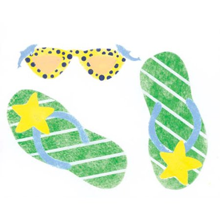 Flipflop with Sunglasses Wall Stencil SKU #3490 by Designer (Sunglasses Coupon Template)