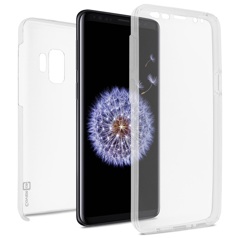 CoverON Samsung Galaxy S9 Case, SlimGuard Series Slim Fit Premium Full Body Phone Cover - HD Clear