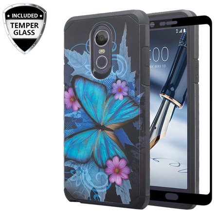 LG Stylo 4/LG Stylo 4 Plus Case Cover w/[ Temper Glass Screen Protector] Silicone Shock Proof Dual Layer Cute Girls Women Case Cover for LG Stylo 4/Stylo 4 Plus - - Cape Girls