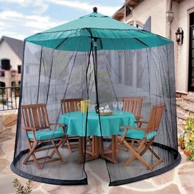 Umbrella Mosquito Net Canopy Patio Table Set Screen House