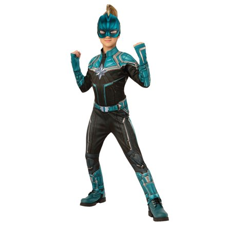 Girls Avengers Costumes (Halloween Avengers Kree Suit Deluxe Child)
