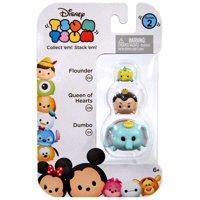 Disney Tsum Tsum Series 2 Flounder, Queen of Hearts & Dumbo Minifigure 3-Pack