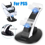 For PS5 Controller Charging Charger Station, TSV Dual Controller Charger Accessory Compatible with PS5 Controllers USB Charging Dock Station Replacement, USB Cable Included