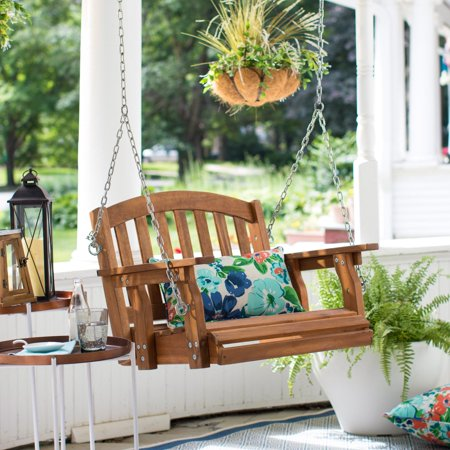C Coast Amherst Single Seat Wood Porch Swing Natural