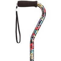 "Harvy Canes - Fashion Prints in Offset - Walking Cane - 30""-39"" - Night Flowers"