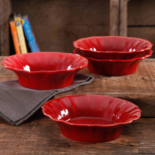 The Pioneer Woman Paige Crackle Glaze 4-Pack Bowls