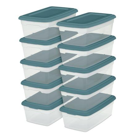 Sterilite Set of 10 - 6 Qt , Cool Water