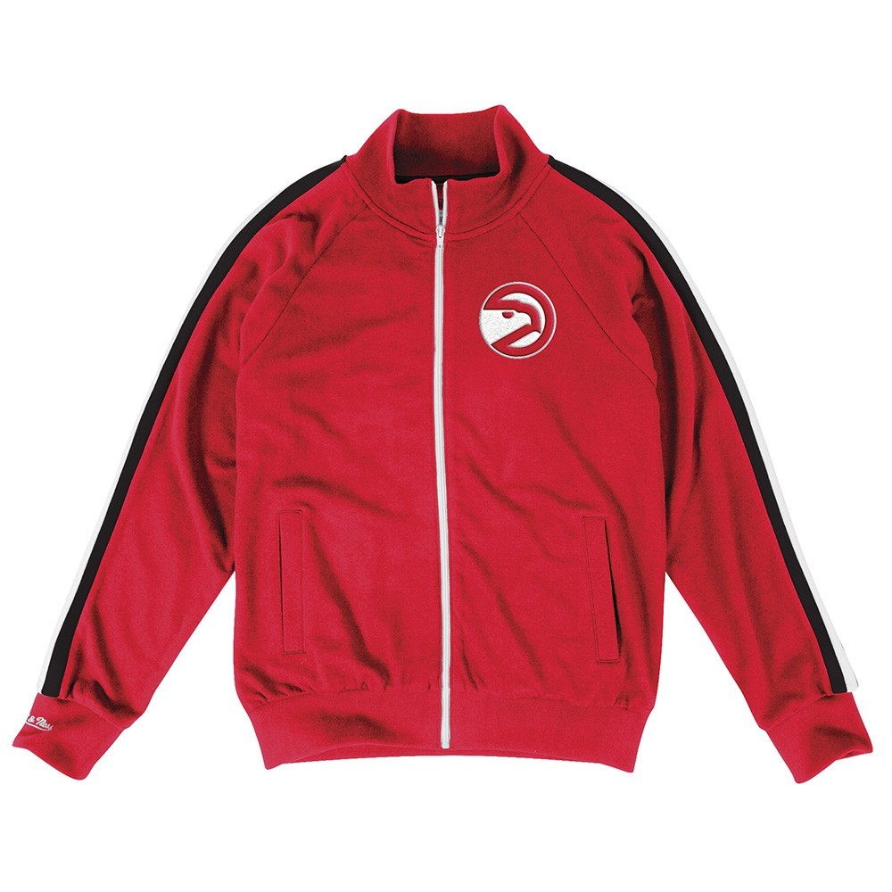 "Atlanta Hawks NBA Mitchell & Ness Red ""Division Champs"" Vintage French Terry Track Jacket Jacket For Men"