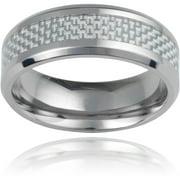 Daxx Men's Titanium Carbon Fiber Inlay F