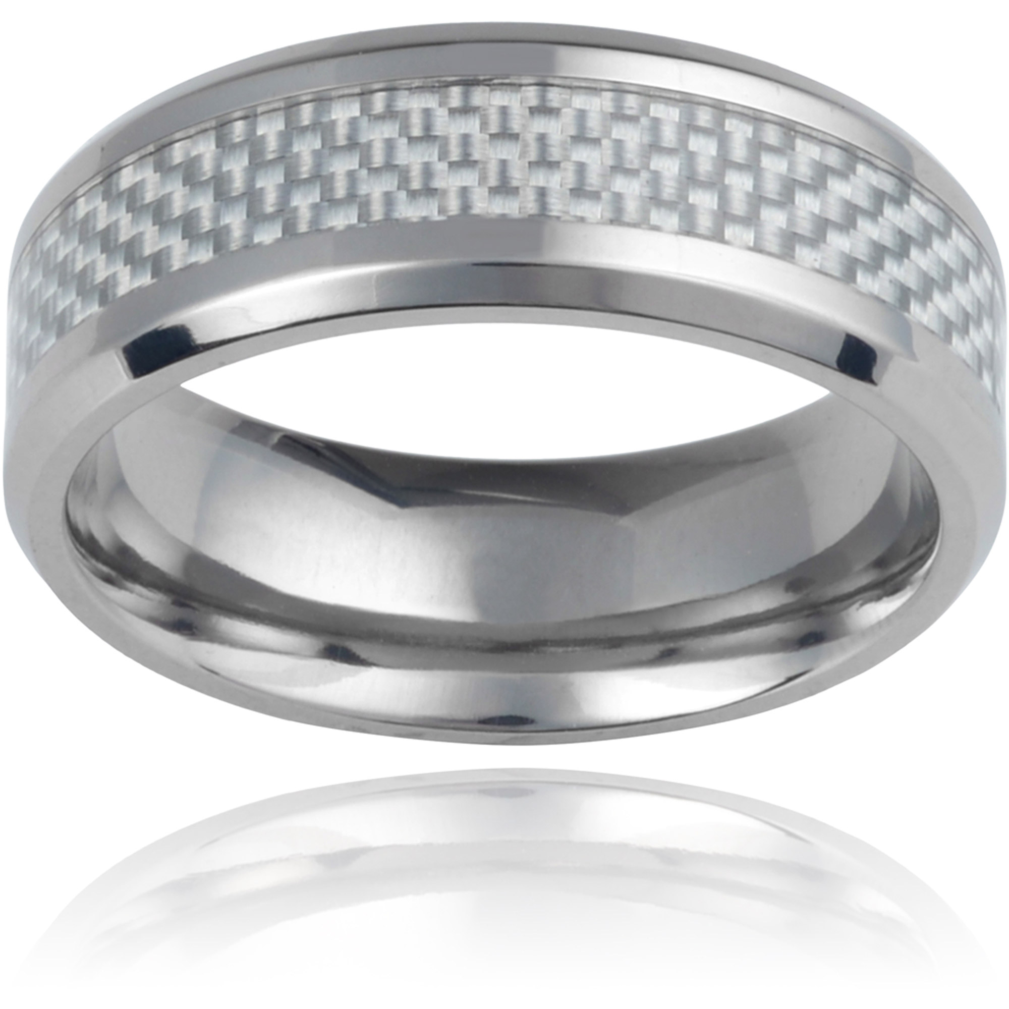 Daxx Men's Titanium Carbon Fiber Inlay F
