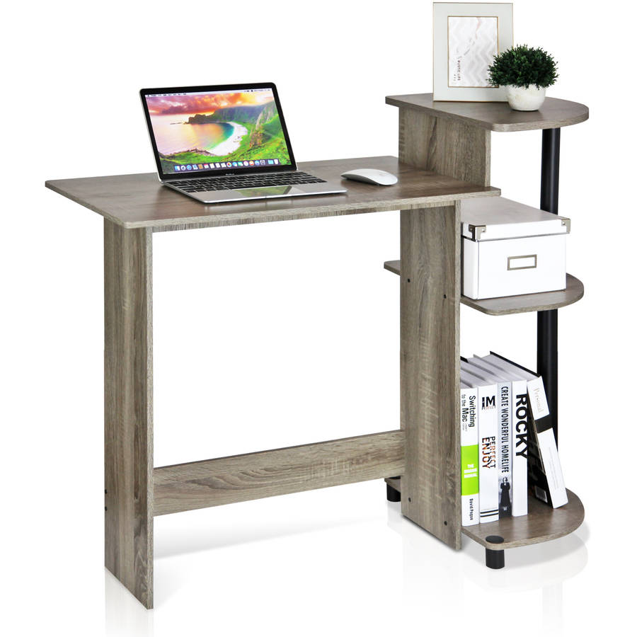 Furinno 11181gyw Bk Compact Computer Desk French Oak Grey