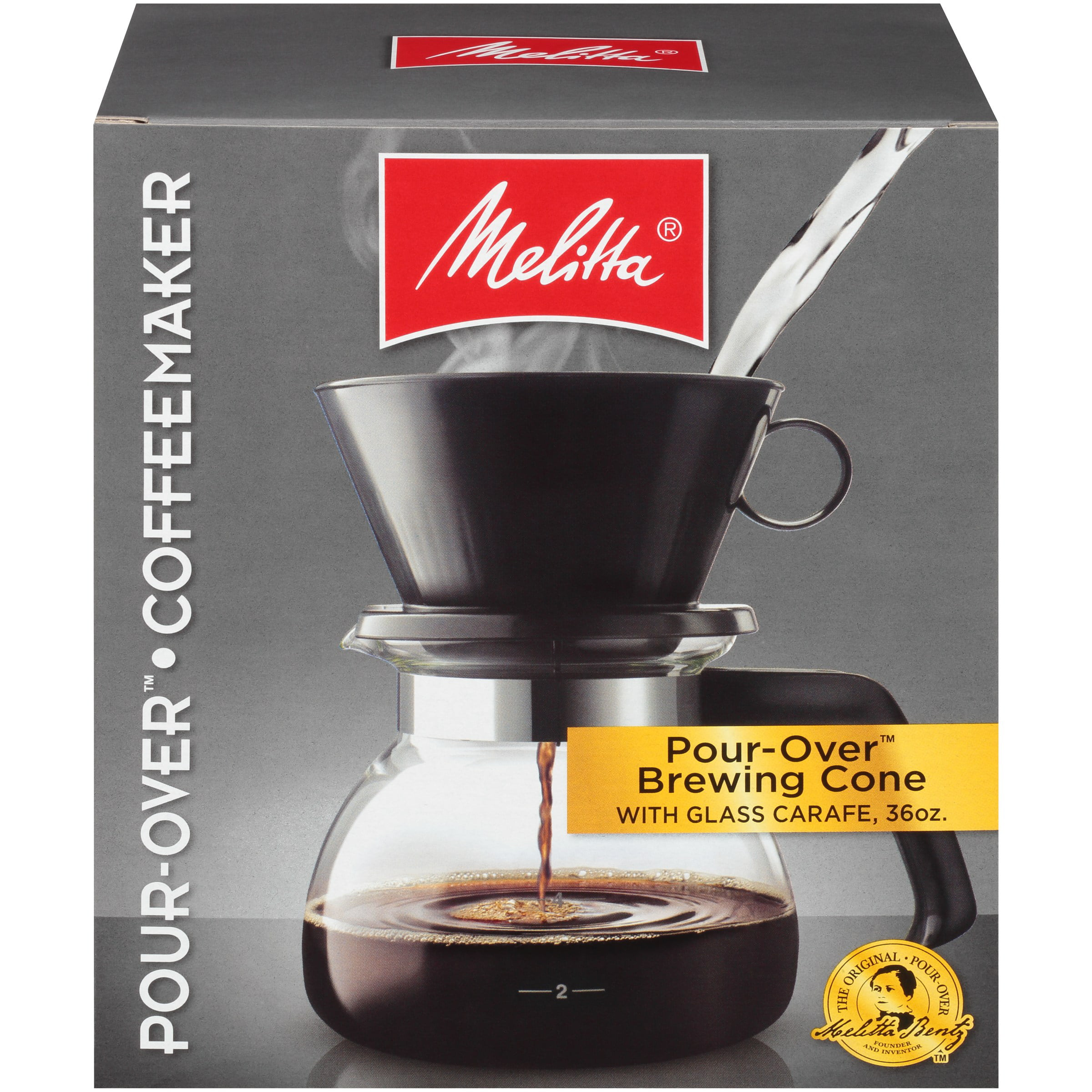 Melitta® Pour-Over Brewer 6 Cup Cone Coffee Maker with ...